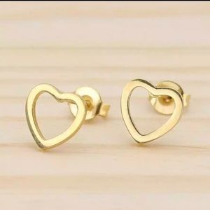 Stainless Steel Lovely Heart Shape Earrings